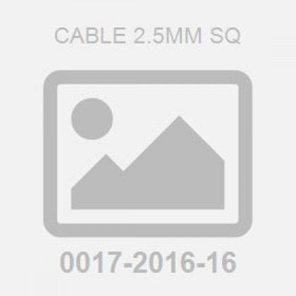 Cable 2.5mm sq