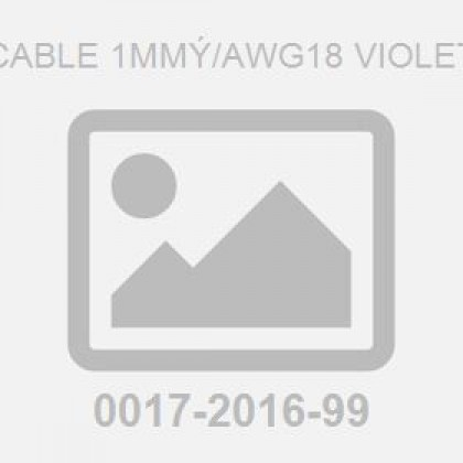 Cable 1Mm�/Awg18 Violet