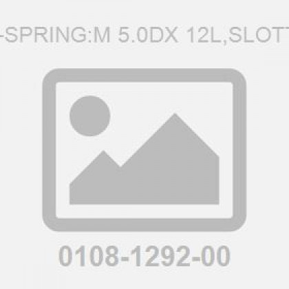 Pin-Spring:M 5.0Dx 12L,Slotted