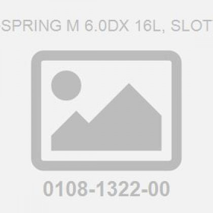 Pin-Spring M 6.0Dx 16L, Slotted