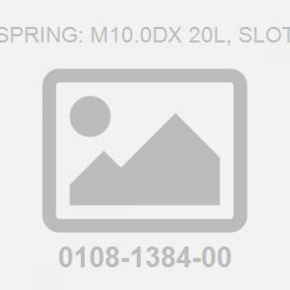Pin-Spring: M10.0Dx 20L, Slotted