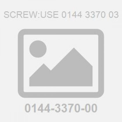 Screw:Use 0144 3370 03