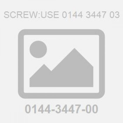 Screw:Use 0144 3447 03