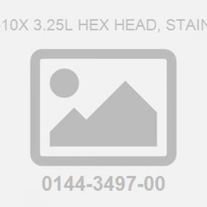 Screw .750-10X 3.25L Hex Head, Stainless Steel