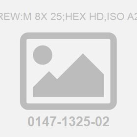 Screw:M 8X 25;Hex Hd,Iso A2-70