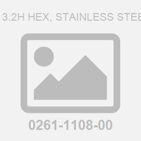 M 6.0Dx 3.2H Hex, Stainless Steel 4 Nut