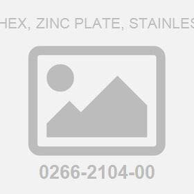 M 3.0Dx 2.4H Hex, Zinc Plate, Stainless Steel Nut