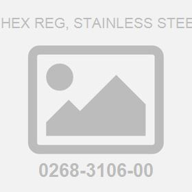 .375-16 ;Hex Reg, Stainless Steel 4 Nut