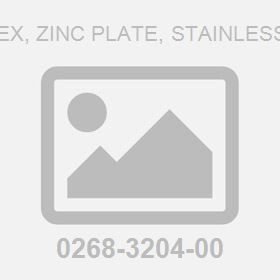 .250-20Unc Hex, Zinc Plate, Stainless Steelt Nut