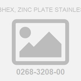 Nut .500-13Hex, Zinc Plate Stainless Steel 5