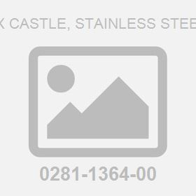 M16 Hex Castle, Stainless Steel 8 Nut