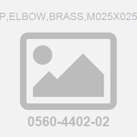 Fit P,Elbow,Brass,M025X025X90