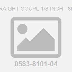 Straight Coupl 1/8 Inch - 8Mm