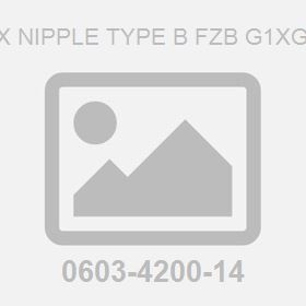 Hex Nipple Type B Fzb G1Xg3/4