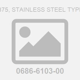 Iso 7-R .375, Stainless Steel Type D Plug
