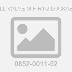 Ball Valve M-F R1/2 Lockable